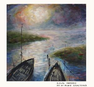 Oil Paintings- Sunset on River