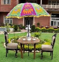 Embroidered Garden Umbrellas