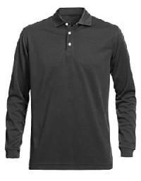 Mens Full Sleeve Plain Polo T-shirts