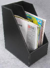 Leather Magazine Holders