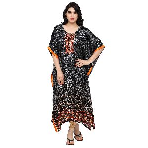 Eye-catchy Black Printed Pakistani Stylish Kaftan