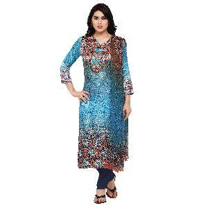 Tiptop Sky Blue Pure Gajji Silk Digital Printed Suit