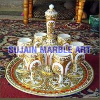 Marble Wine Glass Set