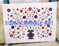 Marble Inlay Floor Tiles