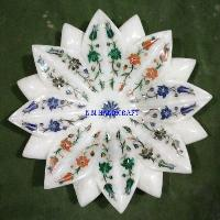 Marble Flower Shaped Bowls