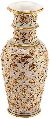 White Marble Flower Vase