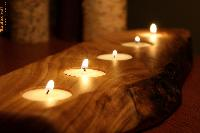Wooden Tealight Candles