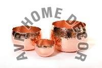 Copper Hammered Bowls