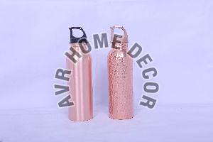750 Ml Plastic Lid Copper Water Bottles