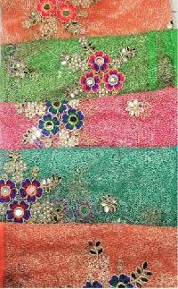 Embroidered Zari Fabric