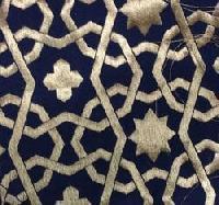 Star Printed Taffeta Silk Jacquard Fabric