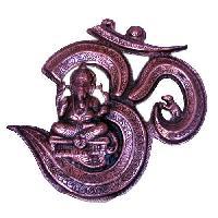 Brass Om Ganesh Statue