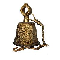 Brass Temple Bell with Chain