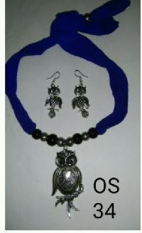 Oxidized Metal Necklace Set