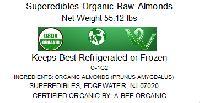 Superedibles Organic Raw Almonds (55.12 Lbs)