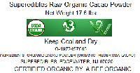 Superedibles Raw Organic Cacao Powder