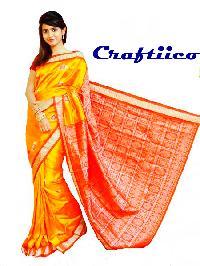 Bomkai Handloom Pure Silk Saree