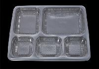5 Compartment Disposable Meal Tray