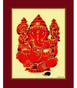 Ratna Ganesh Art Print On Paper