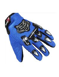 Scooter Riding Blue Colour Driving Gloves
