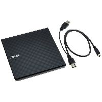 Asus Black External Slim Dvd Writer