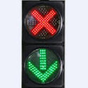 Red Cross & Green arrow Traffic Signal Light