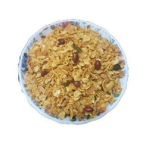 Roasted Salted Corn Flakes Chivda