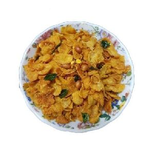 Roasted Spicy Corn Flakes Chivda