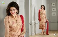 Prachi Desai Beige Georgette Embroidered Straight Suit_rf20236