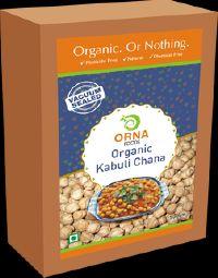 Orna Organic Kabuli Chana Vacuum Packed 500g