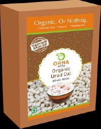 Orna Organic Urad Dal White Whole Vacuum Packed 500g