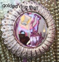 Golden Ring Pooja Thali