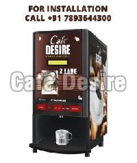 Caf Desire Coffee Tea Vending Machine (2 Lane)