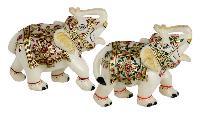 Marble Handicraft Elephant Statues