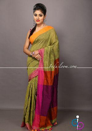 Cotton Saree With Blouse Peice