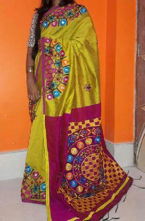 Hand Work Silk Cotton Sarees