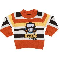 Babeezz Applique Round Neck Casual Baby Sweater