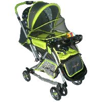 Polly's Pet Baby Rocking Stroller with Mosquito Net (Green)