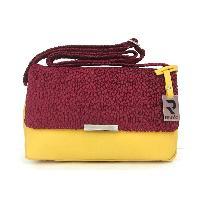 Beehive velvet sling bag