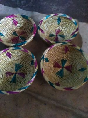 Handmade Golden Grass Basket