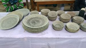 Stone Plate And Bowl Set