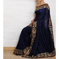 Georgette Blue Printed Sarees
