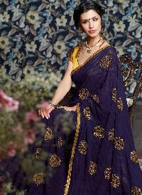 Georgette Lace Work Sarees
