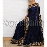 Georgette Blue Printed Sarees
