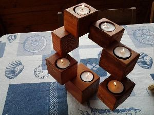 Wooden Candle Holders
