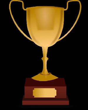 Wooden Gold Plated Trophy