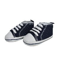 Baby Soft Canvas Shoes/booties - Navy Blue
