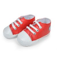 Red White Baby Soft Canvas Shoes