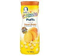 42gm Gerber Graduates Sweet Potato Puffs Cereal Snack