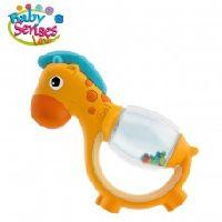 Polka Dot Giraffe Rattle Toy